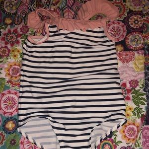 Used H&M 1-2 year old Striped Bathing Suit
